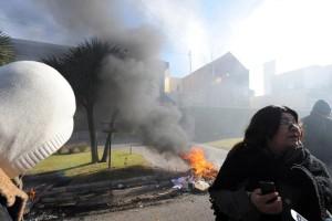 Revista Puerto - Protesta con quema de cubiertas