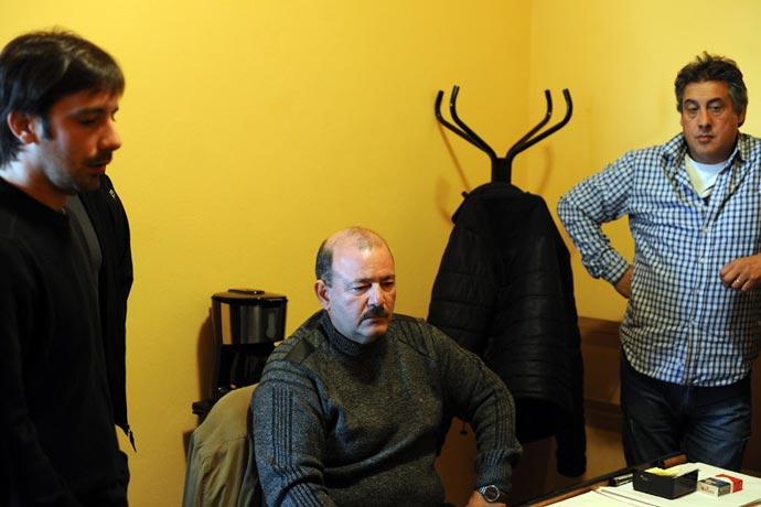 Los interventores Santiago Viola y Jorge Alonso junto a Rubén Manno, delegado de la Intervención.