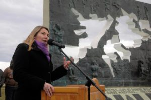 Rosana Bertone, gobernadora de Tierra del Fuego.