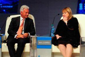 Sir Alan Duncan y nuestra canciller Susana Malcorra.