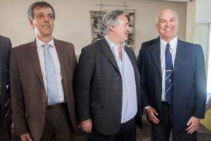 A la izquierda Martín Merlini, presidente del Consorcio Regional Portuario de Mar del Plata.