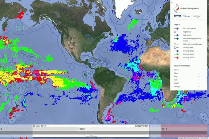 Revista Puerto - Google vigilará la pesca ilegal