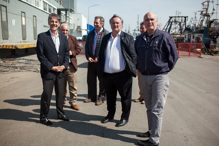 Hace dos años de recorrida por el puerto marplatense como Subsecretario de Puertos de BA