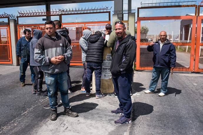 Revista Puerto - Protesta eventuales de la estiba MdP 10