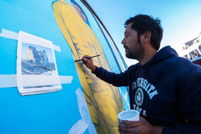 La vida portuaria desde el arte y el pincel
