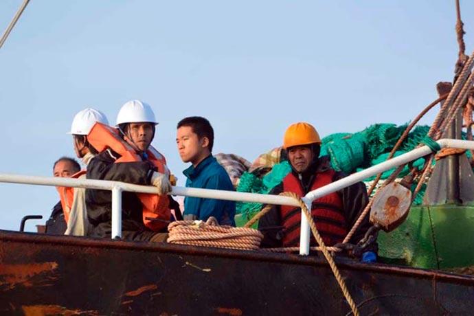 Revista Puerto - Pesquero surcoreano capturado en aguas argentinas 01