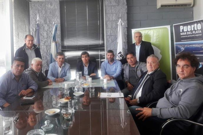 Directa intervención de Tizado para levantar el bloqueo en puerto Mar del Plata