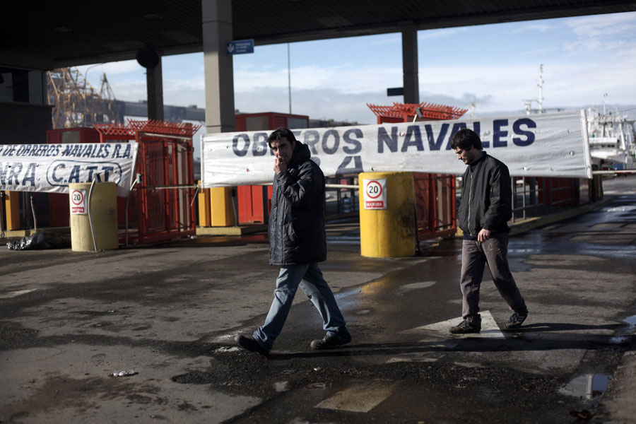 Revista Puerto - Obreros navales en Mar del Plata