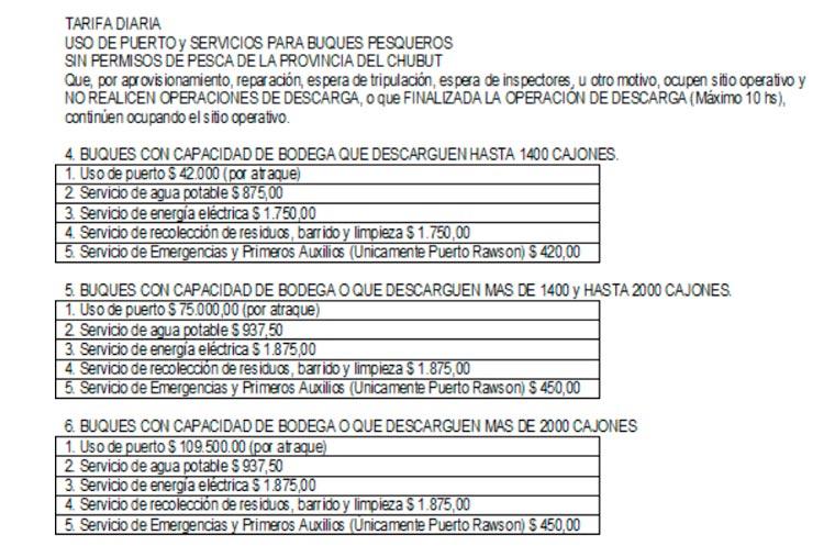 Revista Puerto - Nuevas tarifas portuarias en Rawson y Camarones - 04