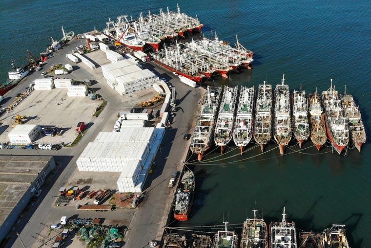 Revista Puerto - Bajan exportaciones por Mar del Plata