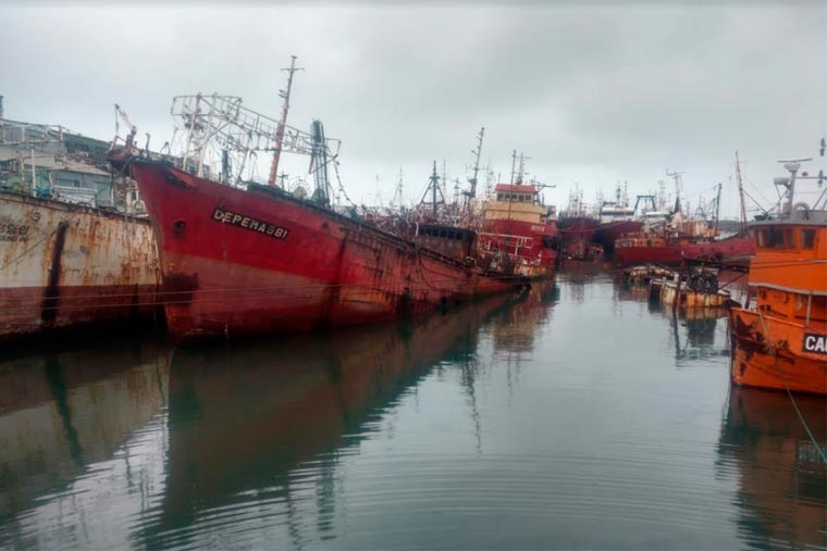 Mar del Plata: Se hundió uno de los pesqueros incluido en el plan de desguace de buques inactivos
