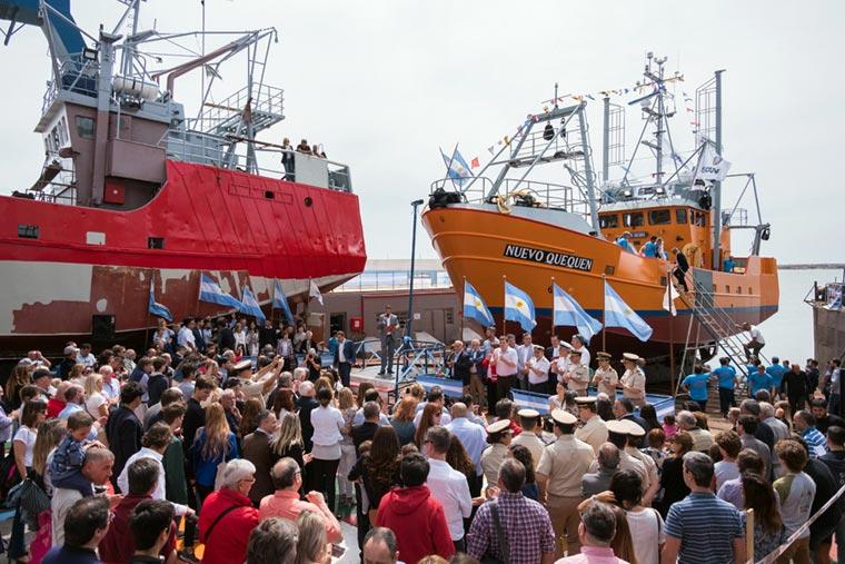 Revista Puerto - Botadura del costero Nuevo Quequen en Astillero Contessi - 09