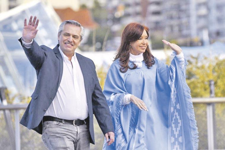 Revista Puerto - Presidente Alberto Fernandez y vicepresidente Cristina Fernandez - 02