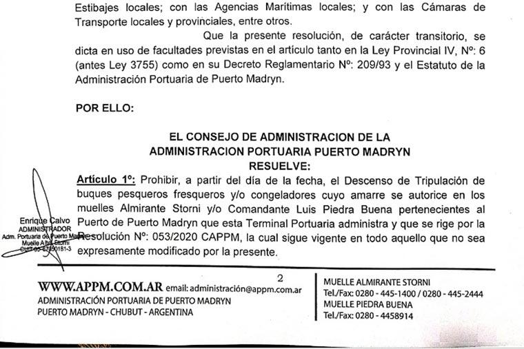 Revista Puerto - Madryn prohibe descensos por Covid-19 - 02