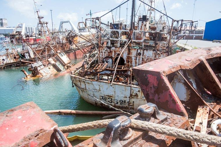 Los planes del Consorcio para desguazar buques inactivos en SPI y TPA
