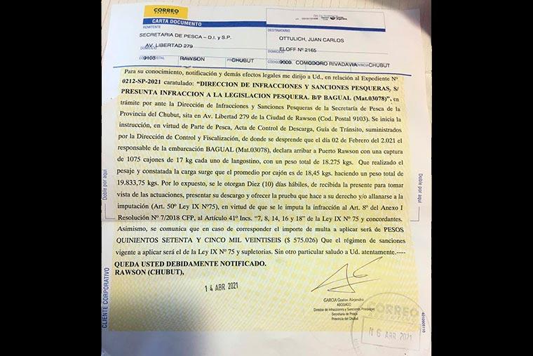 Revista Puerto - Chubut - Rawson - Multan al BP Bagual - 03