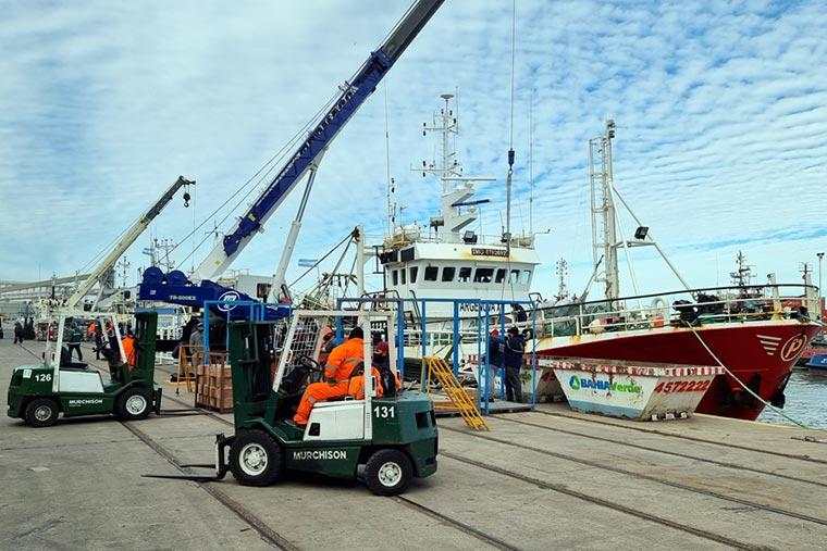 Bahía Blanca incrementa descargas de pescado