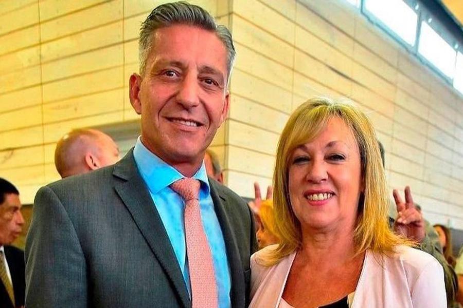 Rossana Artero y el Gobernador Arcioni