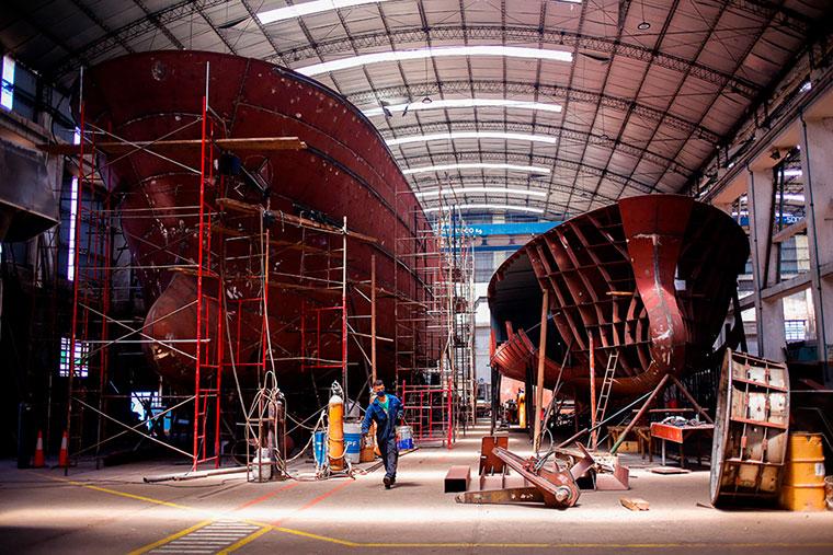 Buscan sustituir importaciones en la industria naval