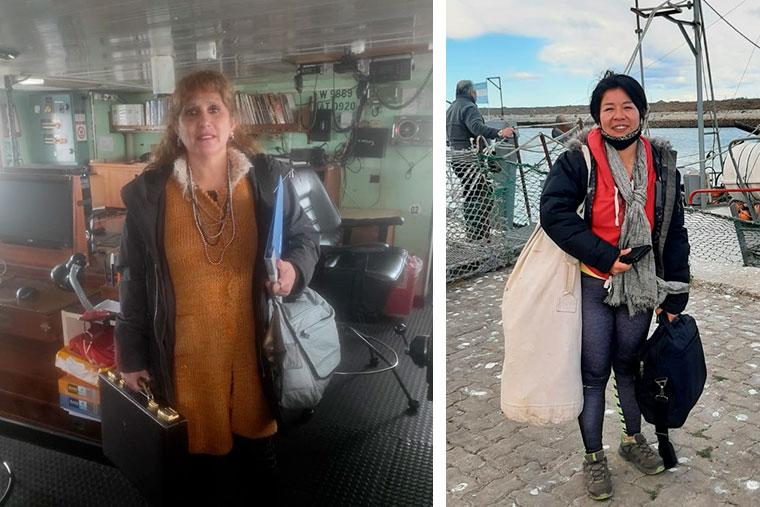 Revista Puerto - Inspectoras a bordo - Nancy Gimenez y Vanesa Sotelo